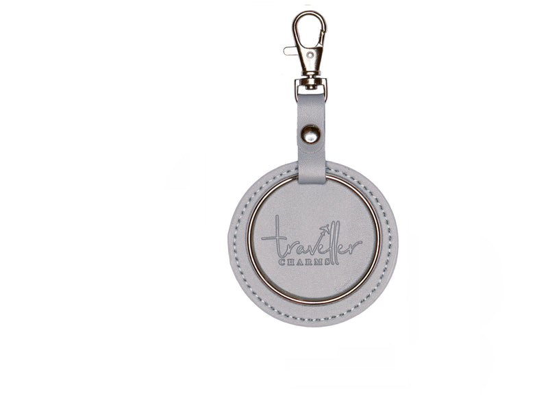 SILVER Key Chain - Grey - Traveller Charms