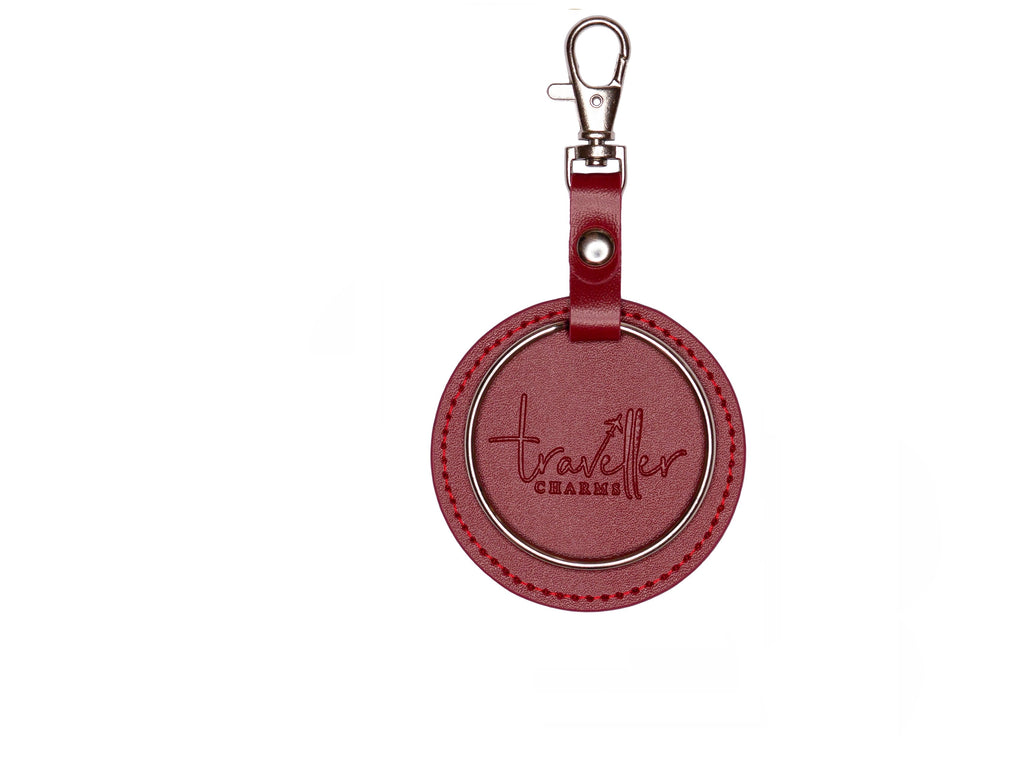 SILVER Key Chain - Red - Traveller Charms