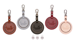 SILVER Starter Set - Key Chain & 3 Engraved Travel Charms - Traveller Charms