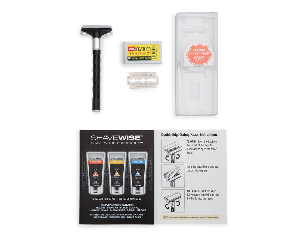 The SHAVEWISE™ KIT with FREE Razors!