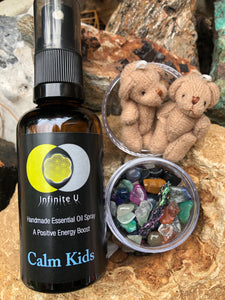 Calm Kids with teddy and crystals