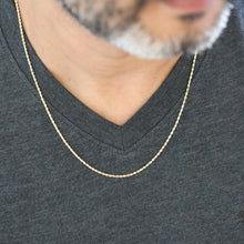 "Load image into Gallery viewer, 10k Yellow Gold Semi-Solid Rope Chain Necklace| 16""-18""- 20""-22"""