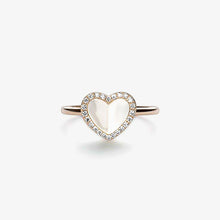 Load image into Gallery viewer, Heart Ring With Pearls And Diamonds