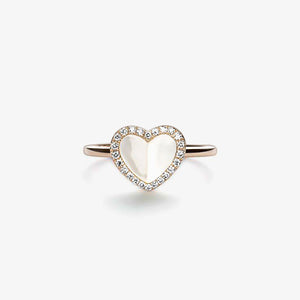 Heart Ring With Pearls And Diamonds