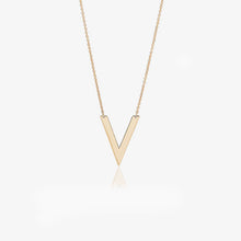 Load image into Gallery viewer, 14K Solid Gold V Shape Layering Necklace - estellacollection