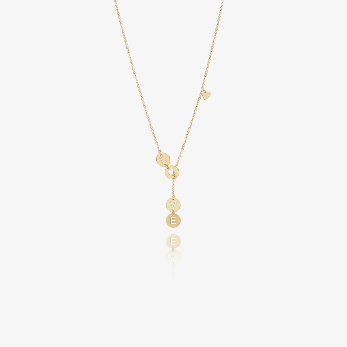 14K Solid Gold Lariat-Style Necklace - estellacollection