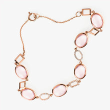 Load image into Gallery viewer, Rose Quartz And Diamond Tennis Bracelet - estellacollection