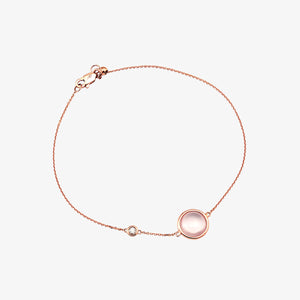Diamond Bracelet With Rose Quartz - estellacollection