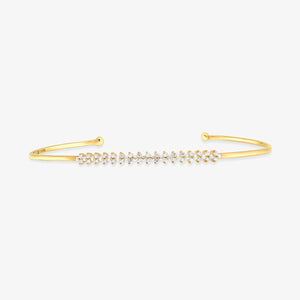 Diamond Bangle Cuff Bracelet - estellacollection