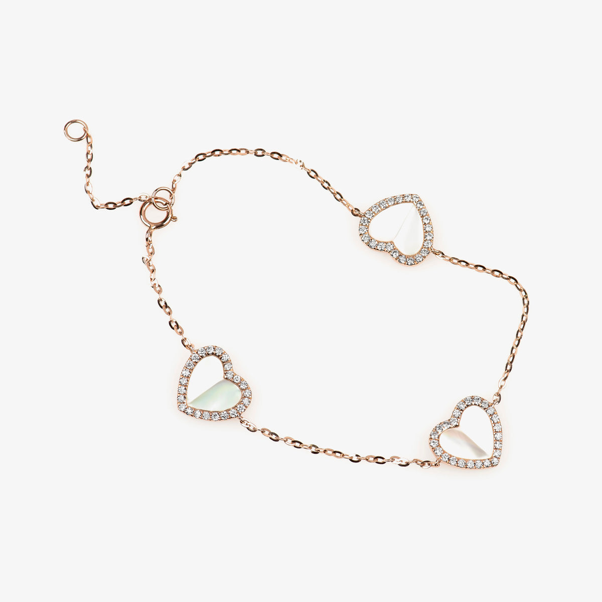 Heart Shape Diamond Station Bracelet - estellacollection
