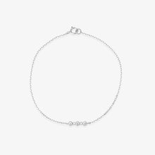 Load image into Gallery viewer, 3 Stone Diamond Studded Chain Bracelet - estellacollection