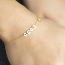 Load image into Gallery viewer, 10K Solid Gold Love letter Bracelet