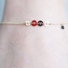 Load image into Gallery viewer, 14K Solid Gold Love letter Bracelet