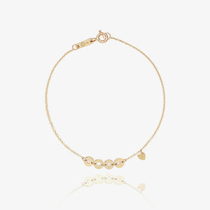 14K Solid Gold Love Initial Bracelet - estellacollection