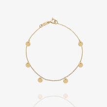 Load image into Gallery viewer, 10K Solid Gold Layering Stacking Disc Coin Bracelet - estellacollection