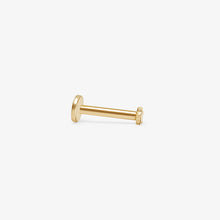 Load image into Gallery viewer, Petite Star Stud Earrings |14k Yellow Gold |Upper Ear Piercings