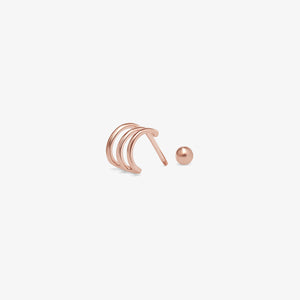 Triple Wire Cuff Stud Earrings | 14k Gold | Gifts For Women