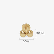 Load image into Gallery viewer, 14K Gold Snakebite Style Double Starter Threaded Stud Earrings