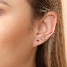 Load image into Gallery viewer, 14K Gold Spike Threaded Stud Earrings