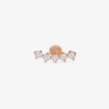 Load image into Gallery viewer, 14K Gold Diamond Threaded Ear Climber