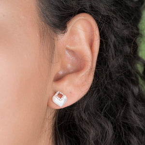 Diamond And Pearl Stud Earrings - estellacollection