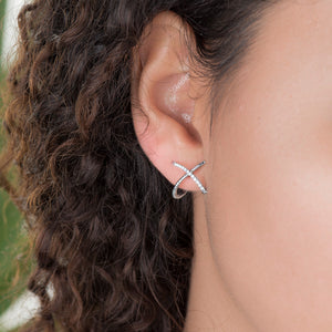 Fashion Earrings In White Gold And Diamonds - estellacollection