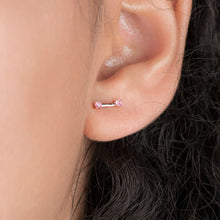 Load image into Gallery viewer, Pink Tourmaline Fashion Stud Earrings In Rose Gold - estellacollection