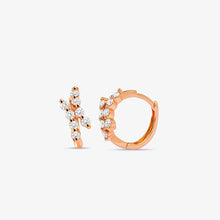 Load image into Gallery viewer, Diamond Fashion Mini Hoop Earrings - estellacollection