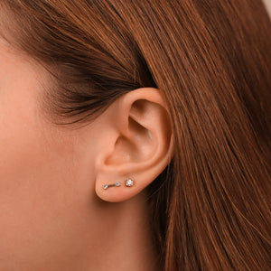 Double Diamond Fashion Stud Earrings - estellacollection