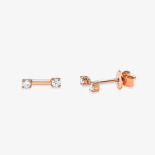 Load image into Gallery viewer, Double Diamond Fashion Stud Earrings - estellacollection