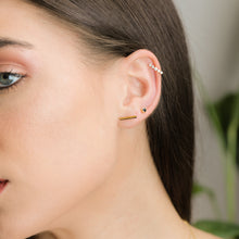 Load image into Gallery viewer, Bar Shape solid Gold Stud Earrings - estellacollection