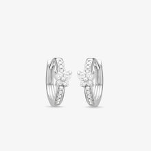 Load image into Gallery viewer, Petite Diamond Huggie Hoop Earrings In Solid Gold - estellacollection