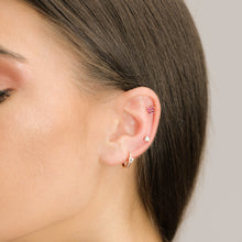 Load image into Gallery viewer, Unique Pink Tourmaline Stud Earring In Solid Gold - estellacollection