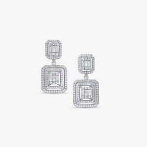 1.94CT Dangle Drop Diamond Earrings - estellacollection