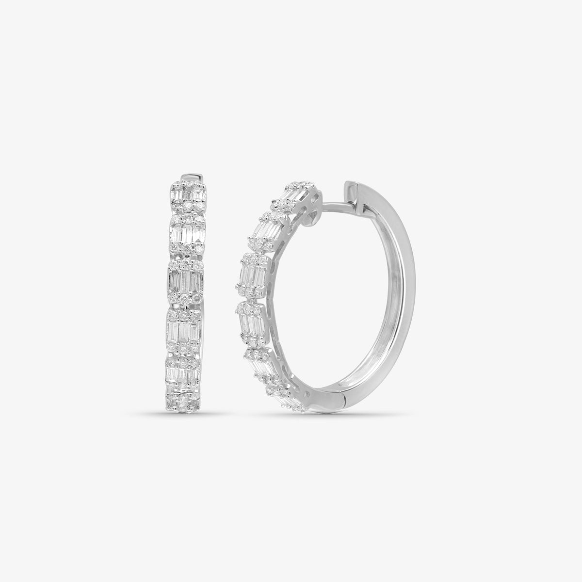 Baguette Diamond Hoop Earring - estellacollection