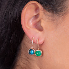 Load image into Gallery viewer, Reversible Diamond and Gem Stone Earrings - estellacollection