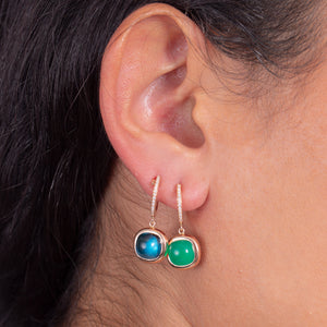Reversible Diamond and Gem Stone Earrings - estellacollection
