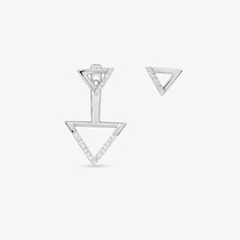 Load image into Gallery viewer, Two Way-Drop Or Stud Diamond Earrings In Solid Gold - estellacollection