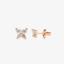 Load image into Gallery viewer, Linea - Nature Inspired Diamond Stud Earring In Solid Gold - estellacollection