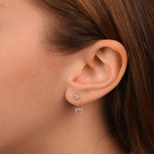Load image into Gallery viewer, Two In One Diamond Fashion Drop/Stud Earrings - estellacollection