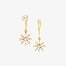 Load image into Gallery viewer, Two In One Diamond Fashion Drop/Stud Earrings