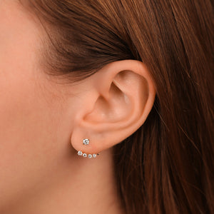 Two In One Diamond Fashion Drop/Stud Earrings - estellacollection