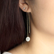 Load image into Gallery viewer, Solid Gold Medallion Statement Dangle Earrings - estellacollection