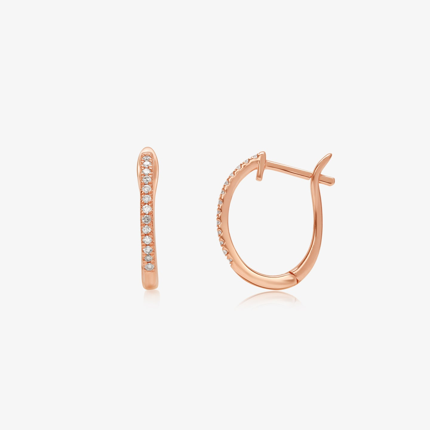 Classic Diamond 14k Gold Hoop Earrings - estellacollection