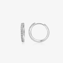 Load image into Gallery viewer, Sophisticated Diamond 14k Gold Hoop Earrings - estellacollection