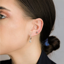 Load image into Gallery viewer, Onyx Black Stone Triangle Studs - estellacollection