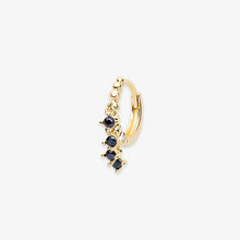 Load image into Gallery viewer, Lara - Black Onyx Stone Fringe Mini Hoops - estellacollection