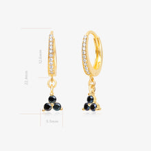 Load image into Gallery viewer, Black Bead Mini Hoops - Pair - estellacollection