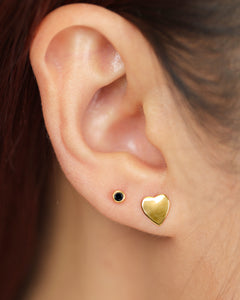 Lara - Dainty Heart Studs Earrings in 14K Gold