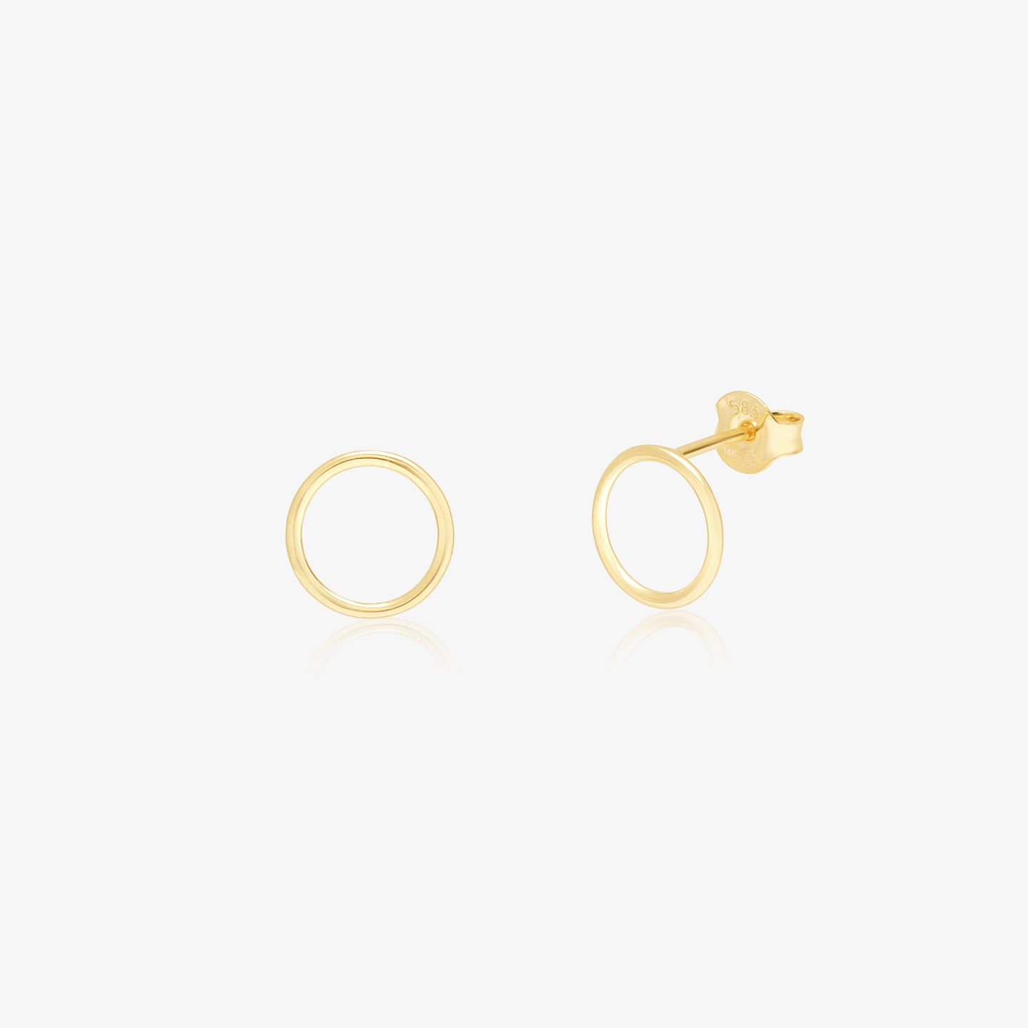 Gold Circle Studs Earrings - estellacollection